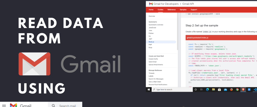 Cover image for Read data from Gmail using Node JS