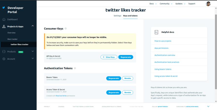 Twitter Keys
