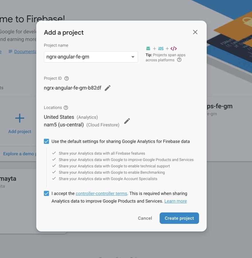 Creazione progetto con Firebase