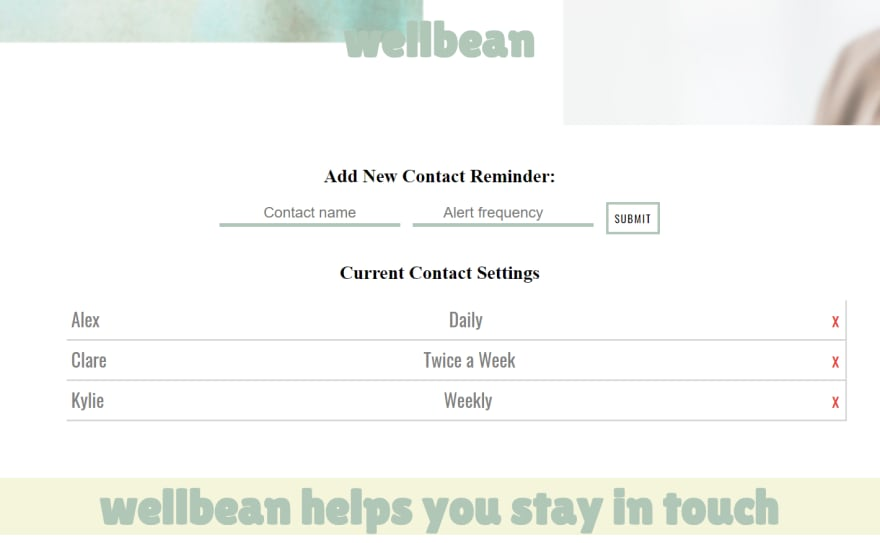 Wellbean front-end