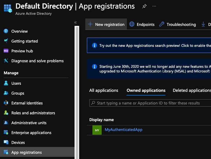 New App Registration