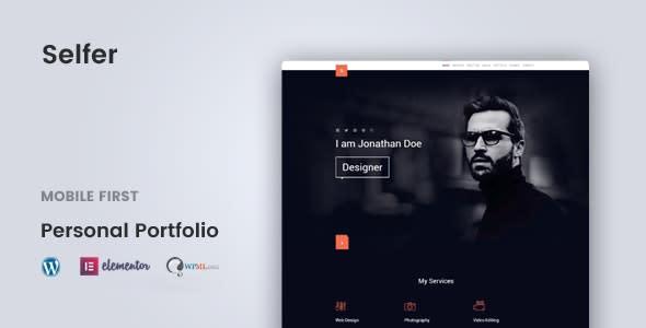 Selfer - Minimal Personal Portfolio WordPress Theme