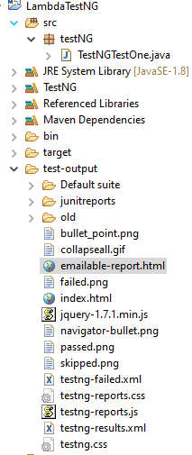 TestNG Reports