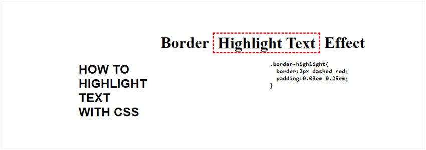 Border CSS Highlight Text Effect