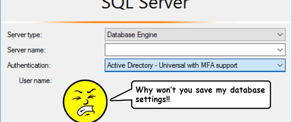 Cover image for SMSS -'Connect to Server' Hell