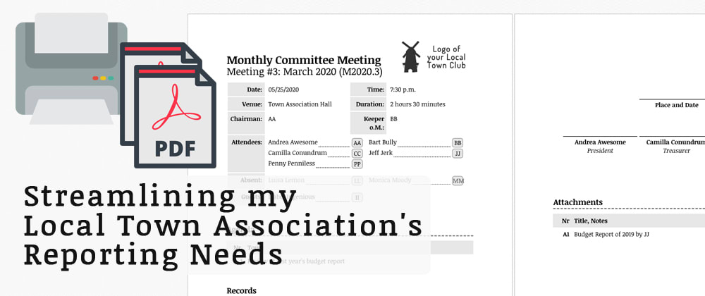Cover image for Streamlining My Local Town Association's Reporting Needs