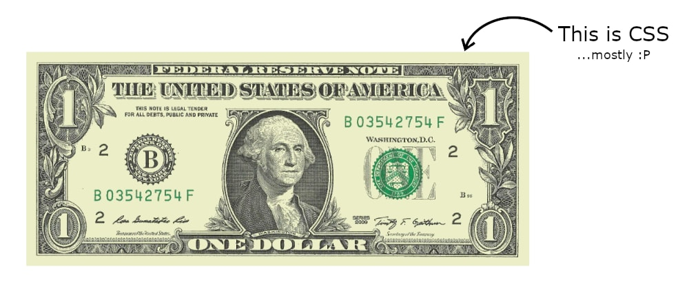 Cover image for Drawing a single-element dollar bill with CSS and JavaScript