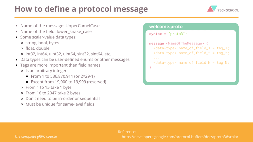How to write protubuf message