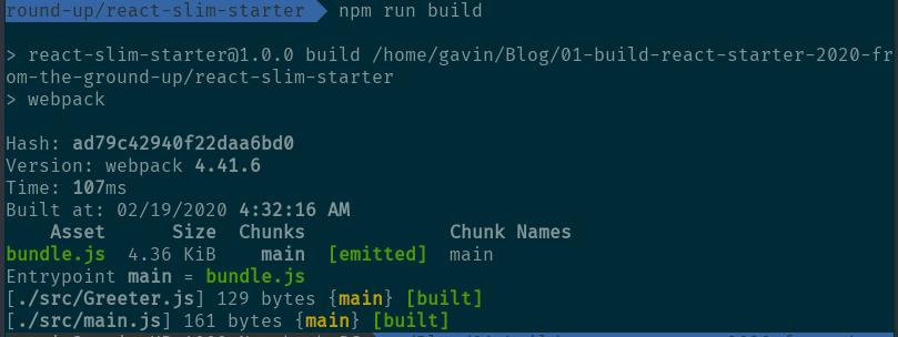 build output
