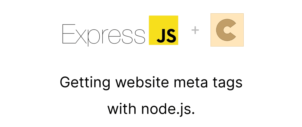 Cover image for Getting website meta tags with node.js!