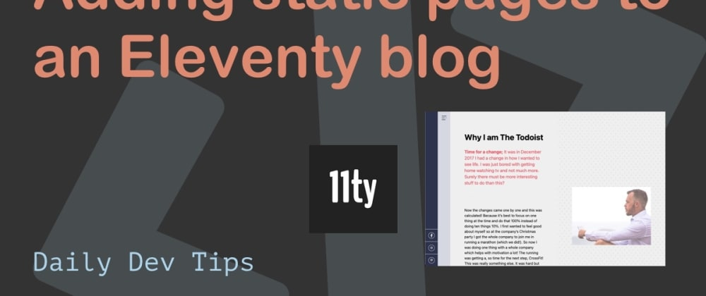Cover image for Adding static pages to an Eleventy blog