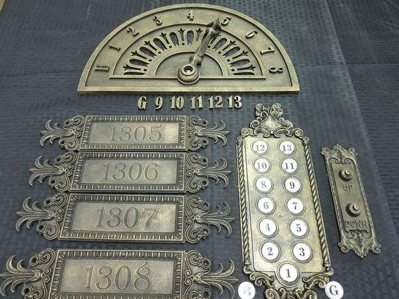 vintage elevator button