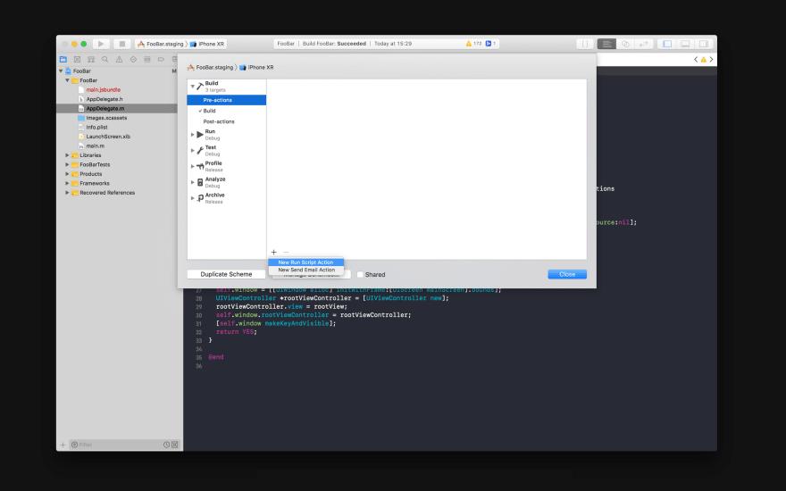add pre build script