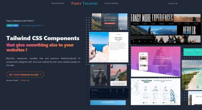Fancy Tailwind website