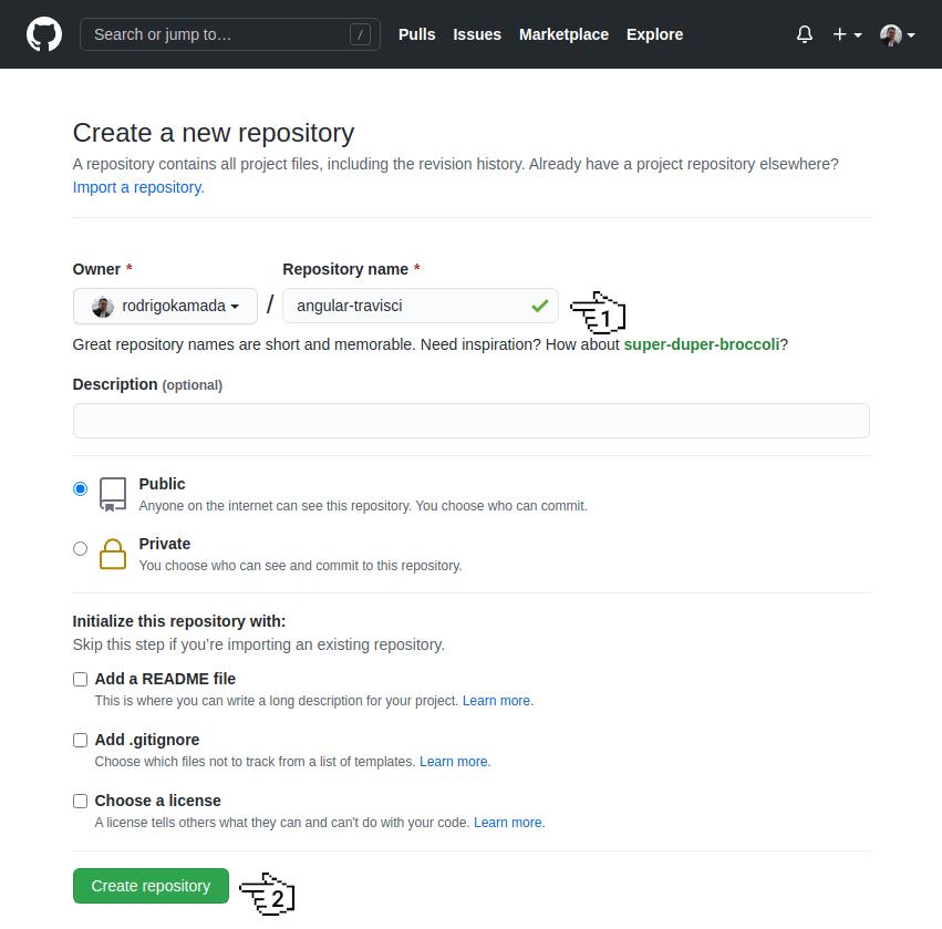 GitHub - Create repository