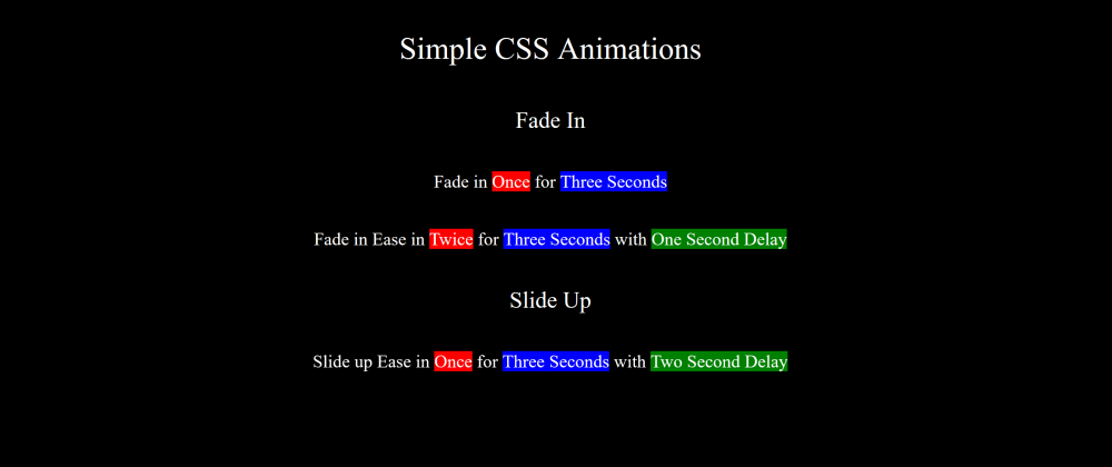 Cover image for 2 Pragmatic CSS Animations You can do Right Now