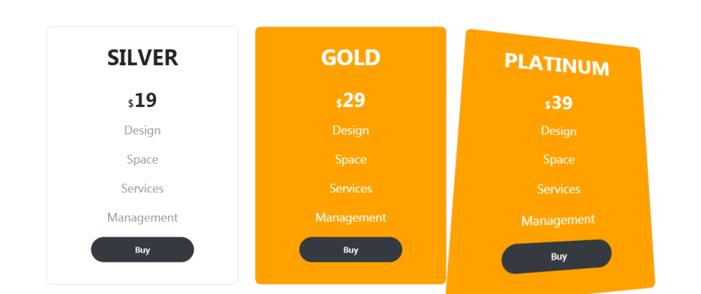 Cover image for Pricing Table with 3D Tilt Hover Effects In Bootstrap 5 and Tilt.js