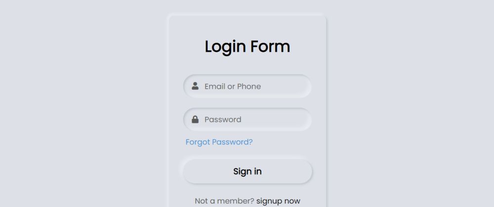 Cover image for Neumorphism Login Form UI Design using HTML & CSS