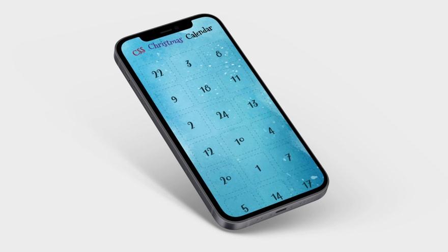 The calendar on an iPhone
