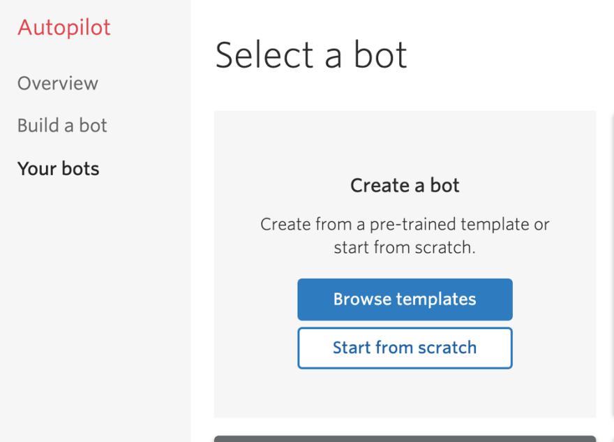 build a bot autopilot button