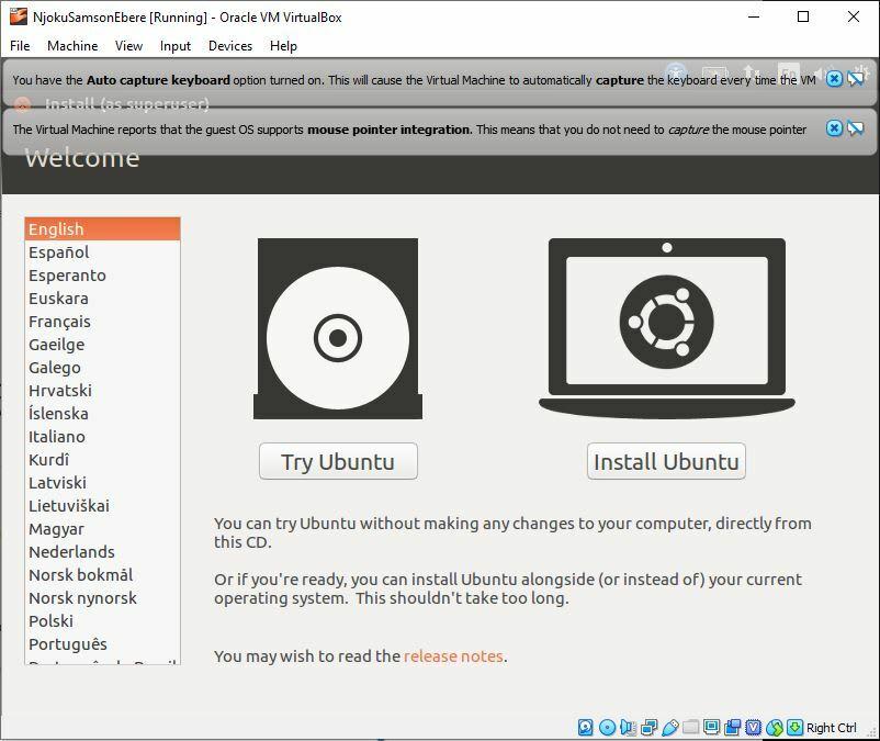 Ubuntu Home Screen