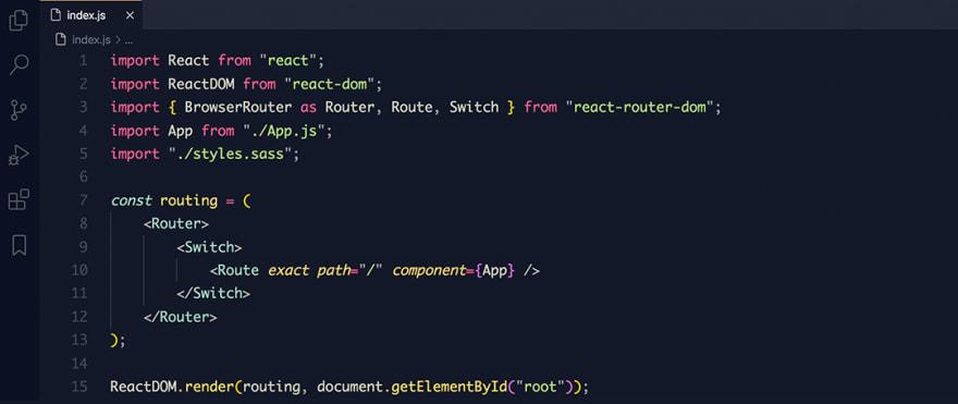 React code snippet with the Mayukai - Mono theme