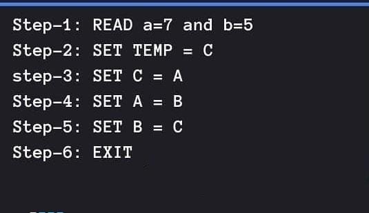 Program to show Algorithm