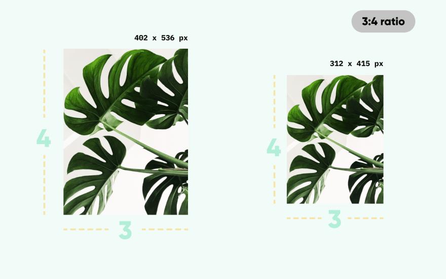 Diferent sizes, same aspect ratio