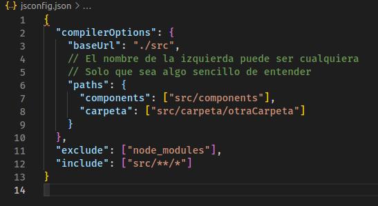 Archivo jsconfig.json