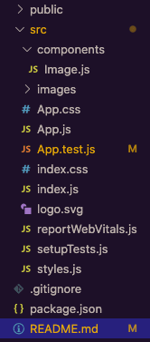Screenshot of file tree