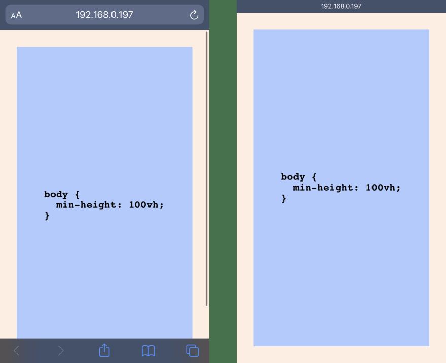 Mobile browser scroll demo