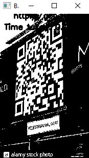 recognition for perspective distorted QR