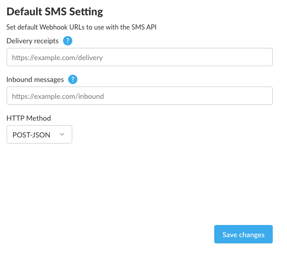 Default Nexmo SMS HTTP Method