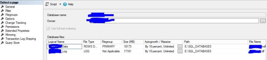 databaseProperties