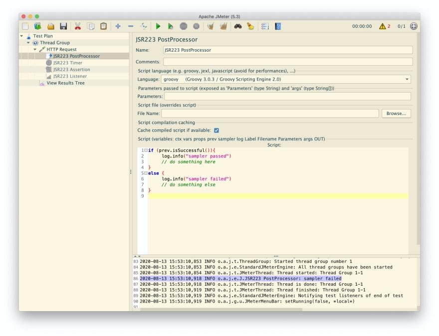 How to add JSR223 PostProcessor