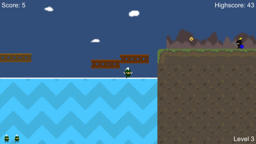 Super Sparty Bros is a 2D platformer game you make in Advanced Game Development