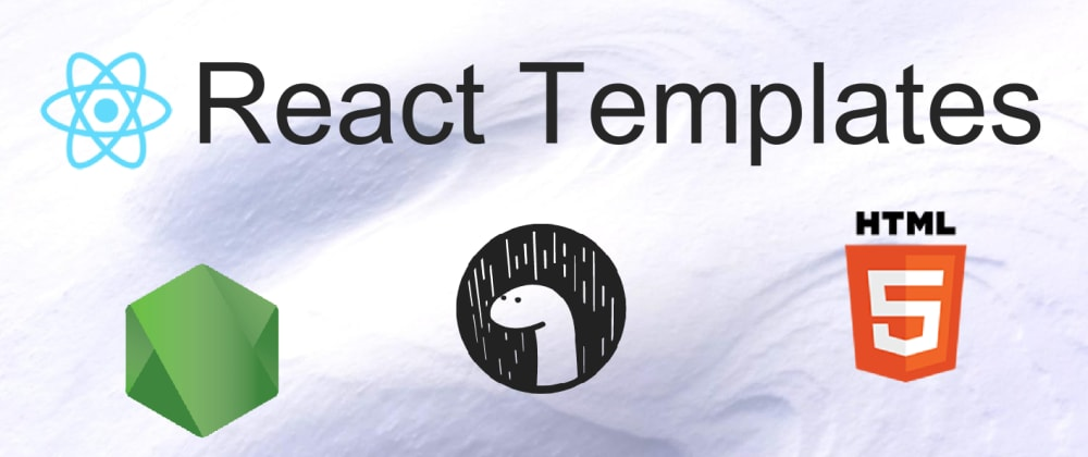 Cover image for React  templates - intro