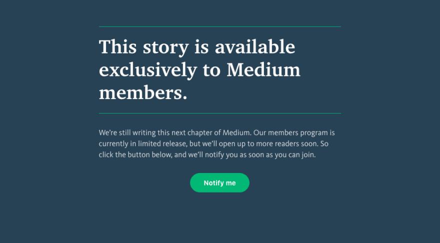 I really hate the Medium experience