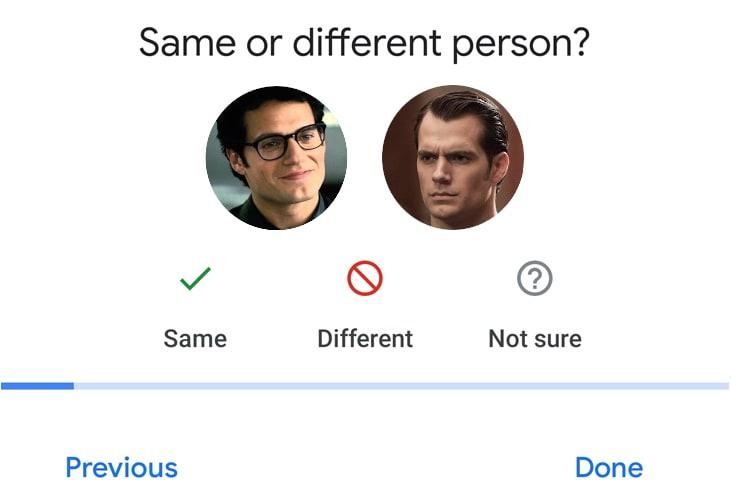 Google Photos face match superman