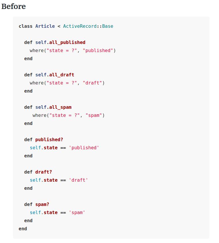 Trecho do código antes de aplicar o DRY