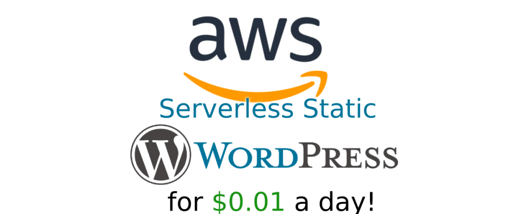 Cover image for Serverless Static Wordpress on AWS for $0.01 a day