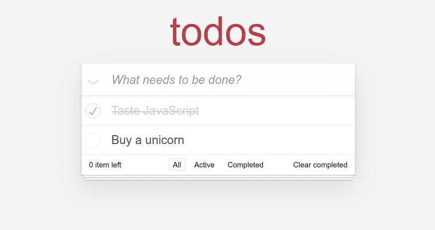 todo app static version