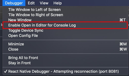 enable open in editor