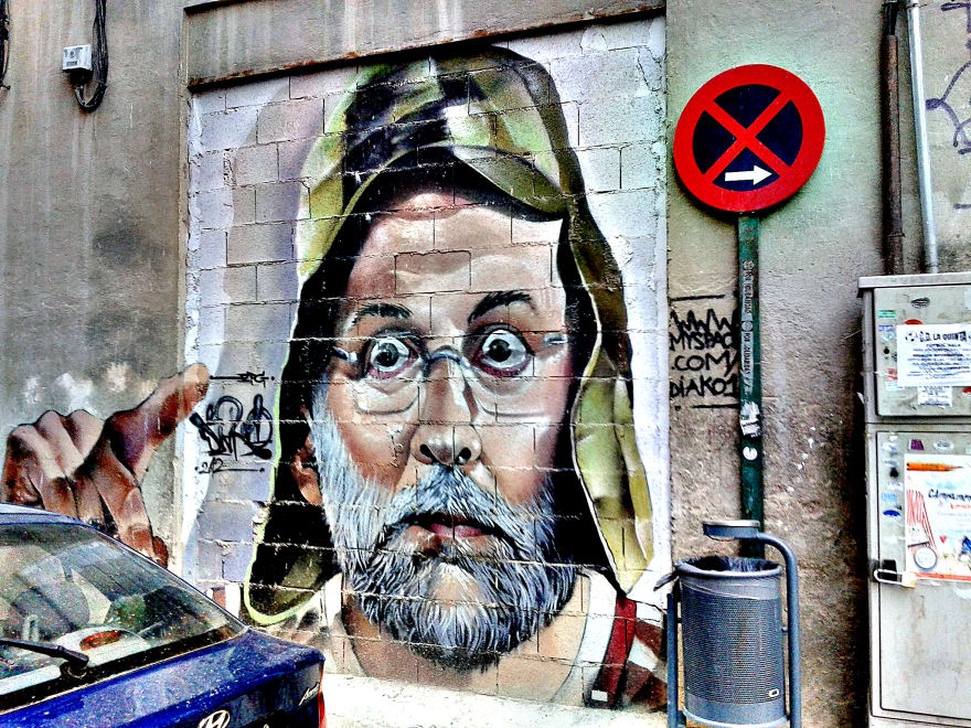 Mariano does Chavo del Ocho, graffiti in Granada