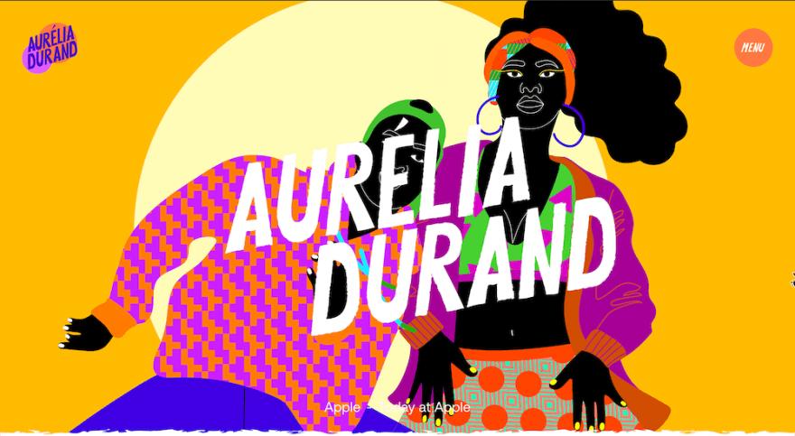 Aurélia Durand - Illustrator portfolio website