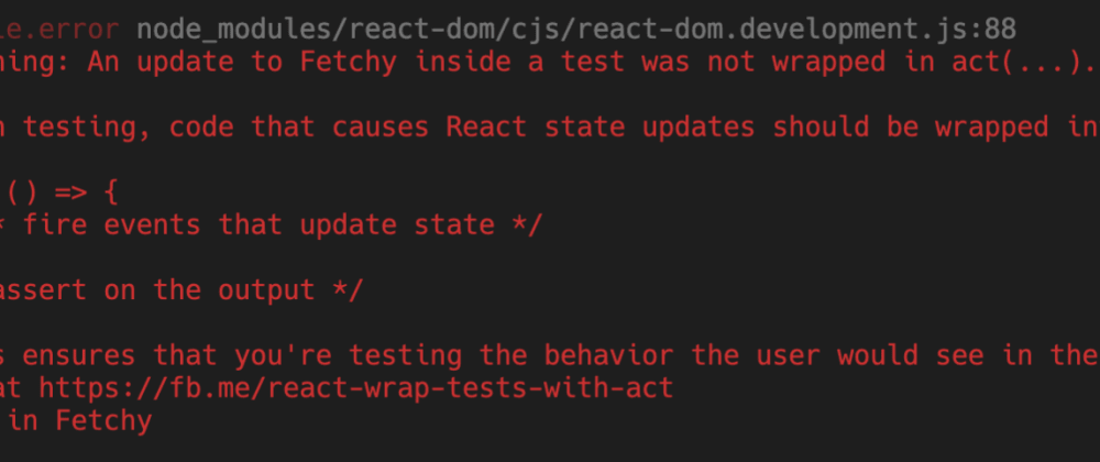 Cover image for Testing async stuff in React components with Jest and react-testing-library
