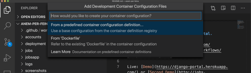 Use predefined configuration file