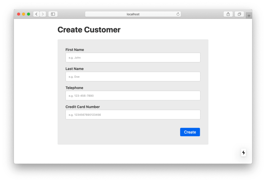 Create Customer