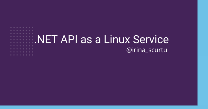 .net api as linux service