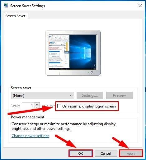 Screen Saver Settings window